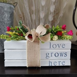 Handcrafted / Farmhouse Style Stacked Book Set